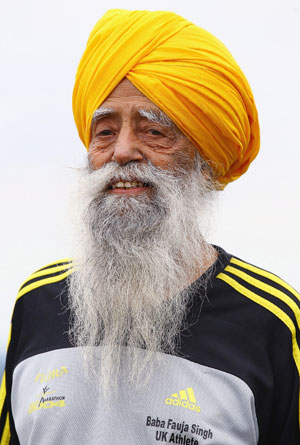 101 year old Marathon Finisher Fauja Singh